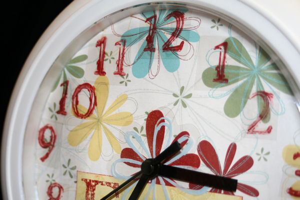 Close Up Detail of Clock Face