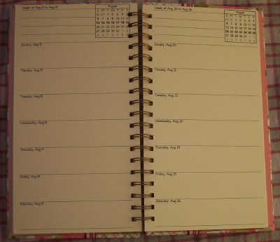 Inside Calendar pages