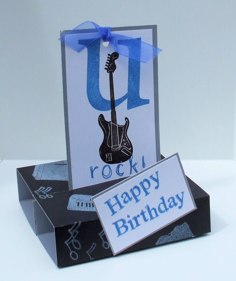 Stand Up Card open - U Rock