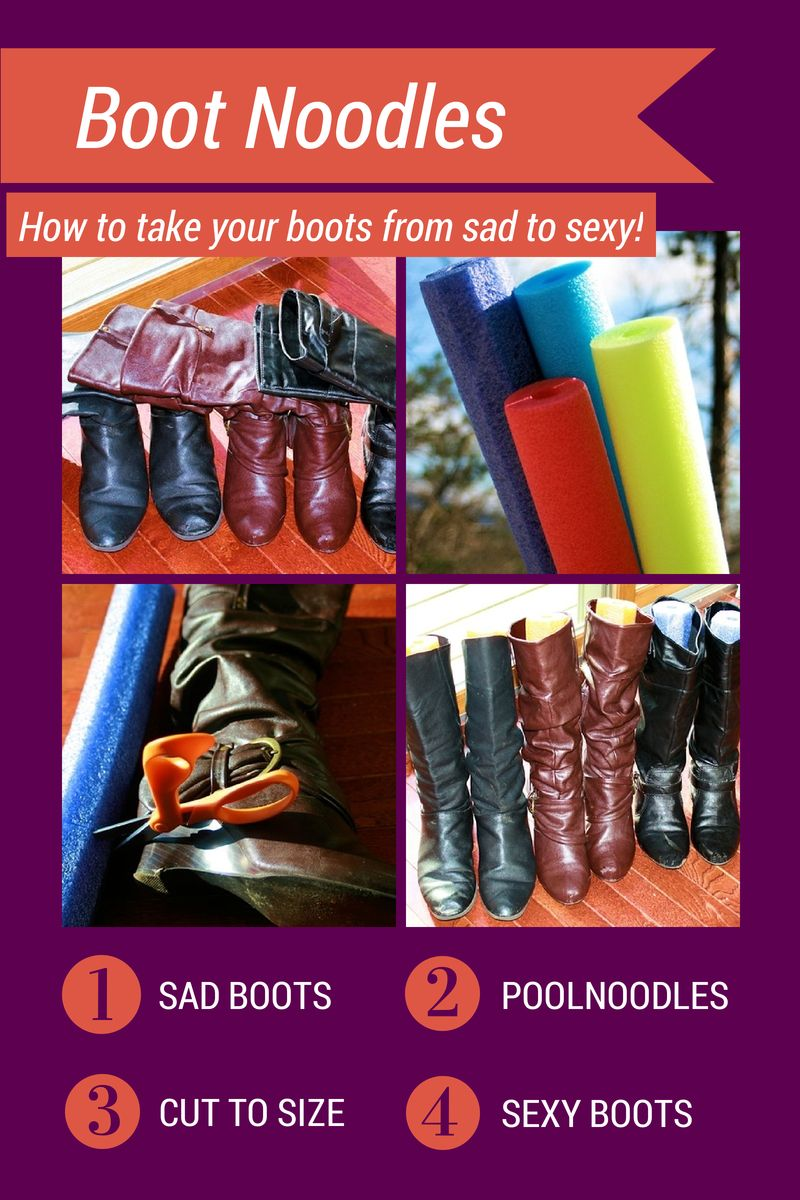 Boot Noodles - How to keep your boots looking sexy with pool noodles