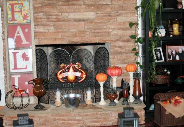 Fall Hearth Decorations
