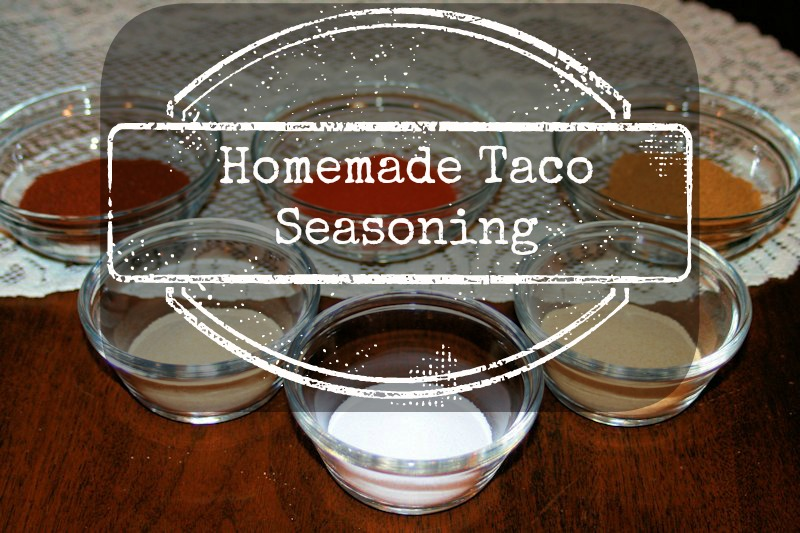 Homemade Taco Seasoning Mix - Super simple - via Altered State of Mine