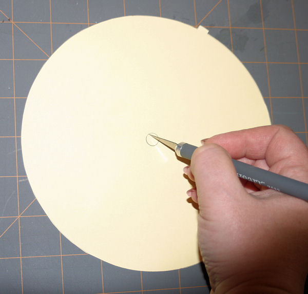Cutting Hole in Clock Face