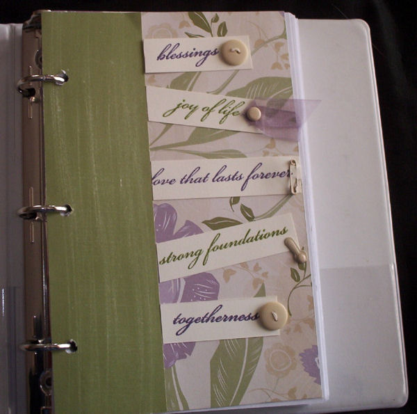 Altered notebook calendar inside