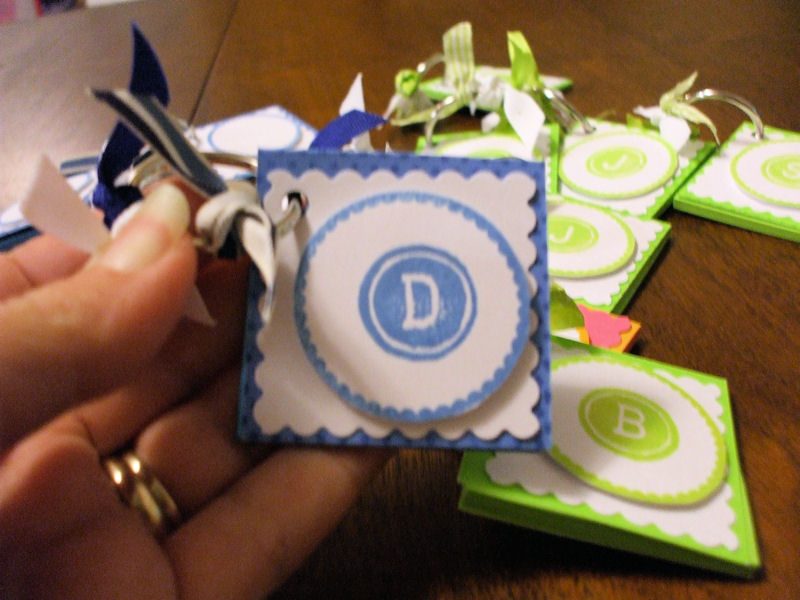 Post It Note Keychain Blue