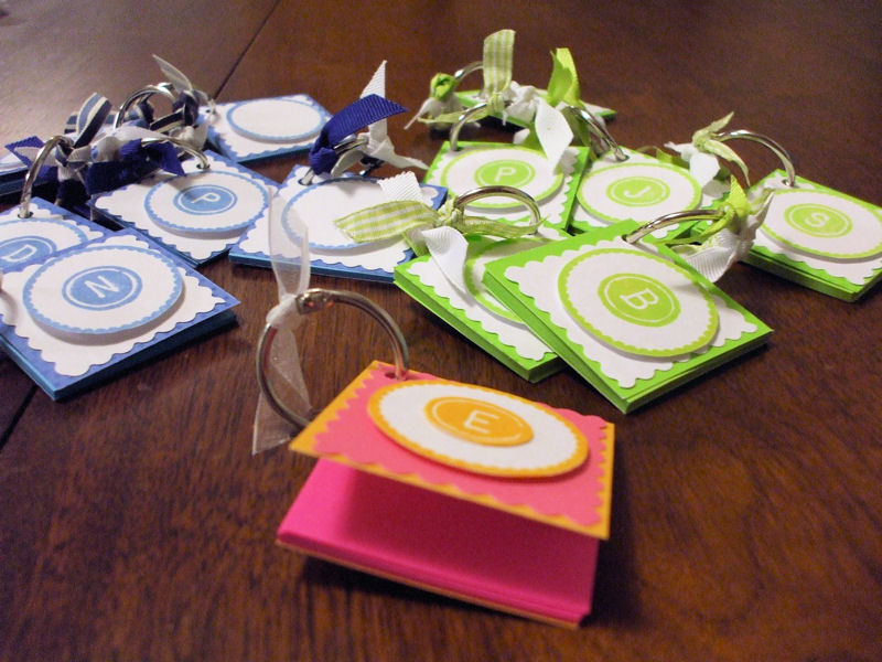 Post It Note Keychains