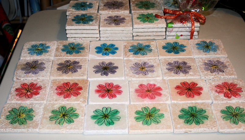 Flower Tile Costers